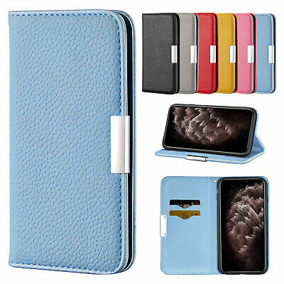 AU11.96 • Buy For IPhone 12 11 Pro Max XR XS 8 Plus 7 6s Flip Leather Card Holder Case Cover