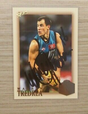 AU35 • Buy Port Adelaide - Warren Tredrea Hand Signed Card 2018 Hall Of Fame Card
