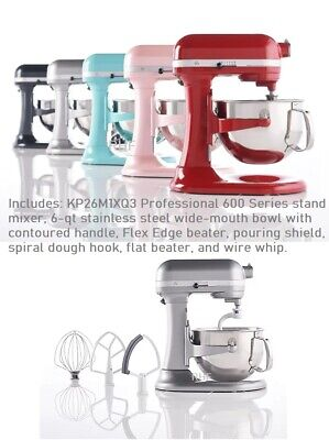 $ CDN824.64 • Buy KitchenAid Pro 600 6-qt Bowl Lift Stand Mixer With Flex Edge And Pouring Shield
