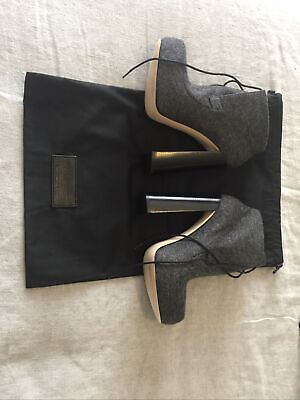 AU200 • Buy Alexander Wang Constance Ankle-Tie Bootie Grey Size 38 NWB