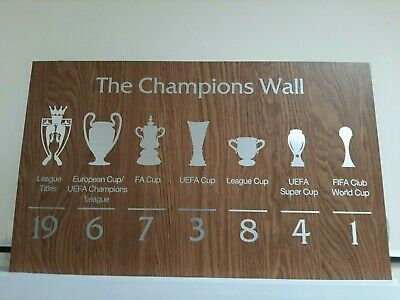 £45 • Buy LFC League Champions 2020  Champions Wall Plaque  Replica your Wall
