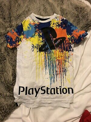 Boys Playstation T Shirt, White, 7-8 Years • 5£