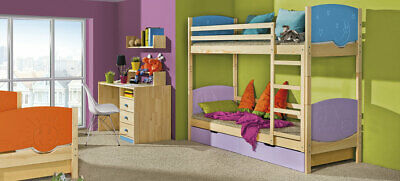 Loft Bed Bunk Bed Double Children Youth Bed Box • 683.64£