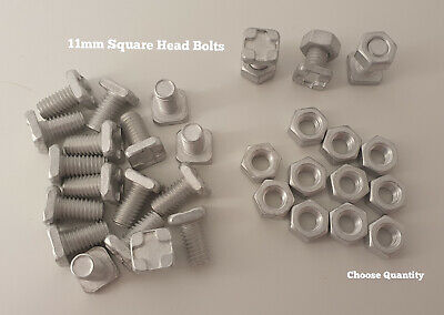 £9.09 • Buy Greenhouse Accessories Greenhouse Bolts 11mm SQUARE Head Bolts And Nuts