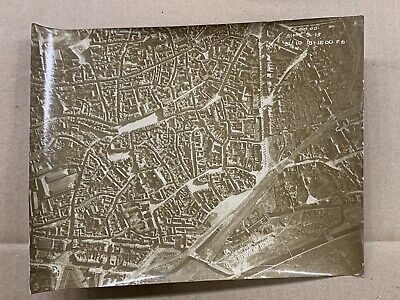 Original WW1 Photograph 1918 Aerial View Reconnaissance Of Valenciennes France • 10£