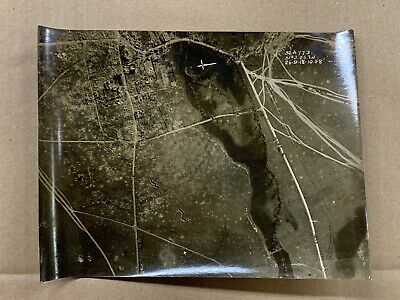 Original WW1 Photo 1918 Aerial View British Front Line Sailly-Somme-France • 10£