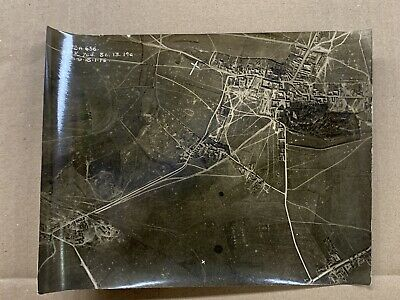 Original WW1 Photo 1918 Aerial View Brebieres -Somme-France • 10£