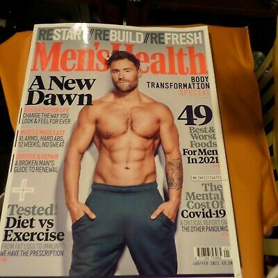 Mens Health Magazine Jan Feb 2021 New • 1.25£
