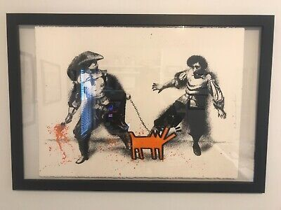 $1199 • Buy Mr Brainwash Watch Out! ORANGE Poster Screen Print HAND FINISHED 30 X 22.5