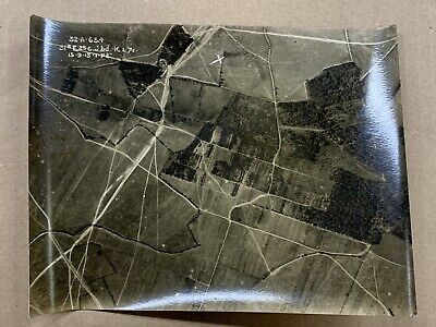 Original WW1 Photo 1918 Aerial View Be Brebieres-Somme-France • 10£