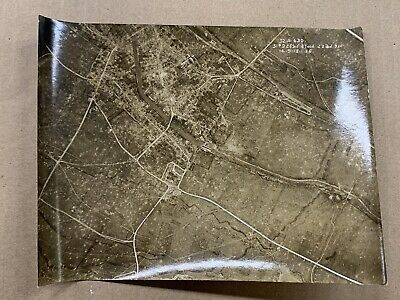 Original WW1 Photo 1918 Aerial View Be Brebieres-Somme-France • 10.50£