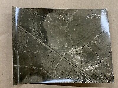 Original WW1 Photo 1918 Aerial View British Front Line-Vitry-Somme-France • 10.50£