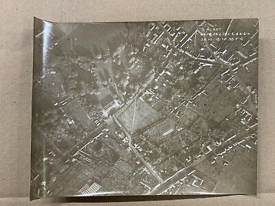 Original WW1 Photo 1918 Aerial Reconnaissance View French Village • 10£