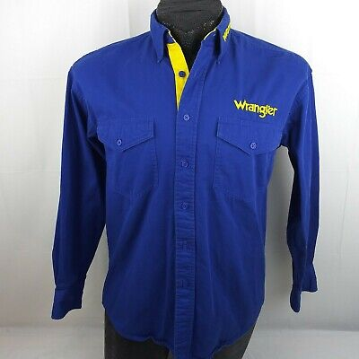 $31.48 • Buy Wrangler Mens Rodeo Western Shirt Medium Vintage Cowboy Button Front Embroidered