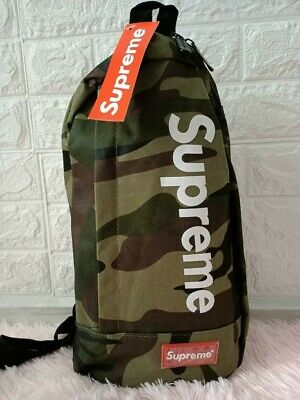 $ CDN91.35 • Buy Camouflage Supreme Crossbody Backpack Single Strap Sling Bag - Brand New!
