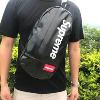 $ CDN89.31 • Buy Black Supreme Crossbody Backpack Single Strap Sling Bag - Brand New!