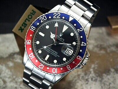 $ CDN28053.51 • Buy Collector Condition 1980 (made 1979) Rolex Oyster GMT 1675 Pepsi Full Set Watch