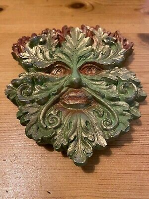 £10.99 • Buy GREEN MAN WALL PLAQUE. Man Of The Forest. Wood Sprite. Tree Spirit. Pagan.