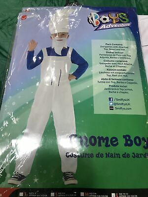Smiffys Garden Gnome Boy Smurf Costume Age 10-12 Years Large • 8£