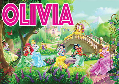 Personalised Name Disney Princesses Princess Poster Print Graphic A4 A3 A2 A1 A0 • 4.99£