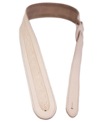 $ CDN22.03 • Buy Natural Embossed Guitar Strap By Leathergraft Top Quality UK Made Real Leather