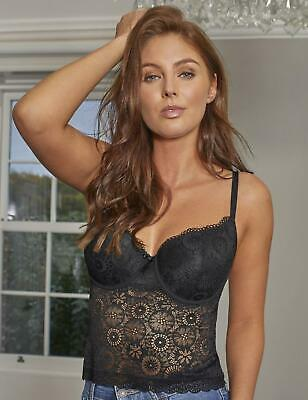 Contradiction By Pour Moi Love Padded Cami Top 182921 Sexy Lace Longline Bra Top • 27£