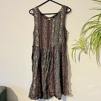 Women's New Loon Aztec Print Casual Summer Dress. Size 10. Used.  • 1.10£