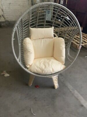 Cox And Cox Rattan Egg Chair With Stand And Cushions Indoor / Out Door New • 200£