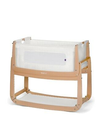 Snuzpod 3 Bedside Crib In Natural - 3 In 1 Baby Cot - Brand New • 139£