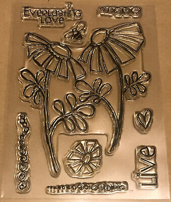 Woodware Clear Stamps - Floral • 4£