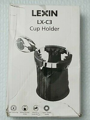 $20.99 • Buy LEXIN C3 Motorcycle Drink Cup Holder With 360°swivel Ball-mount & Nylon Basket