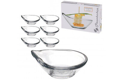 £6.45 • Buy 6 X Pasabahce Small Glass Dessert Bowls Curved Ice Cream Fruit Coupelle Gastro