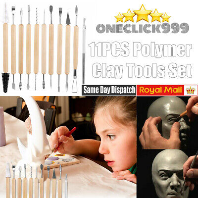 £5.99 • Buy 11PCS Polymer Clay Tools Set Modelling Sculpting Tool Pottery Sculpey Fimo Wax