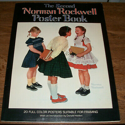 $ CDN24.95 • Buy The Second Norman Rockwell Poster Book 20 Full Color Posters 1st Printing 1977