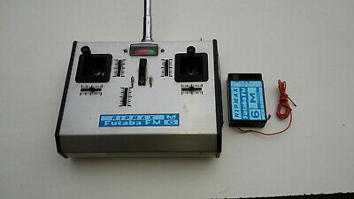 Futaba M Series 4 Channel 27MHz FM Transmitter And Receiver Working Inc Crystals • 25£