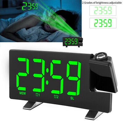AU35.27 • Buy Smart Digital LED Projection Alarm Clock  FM Radio Alarm Snooze Dimmable