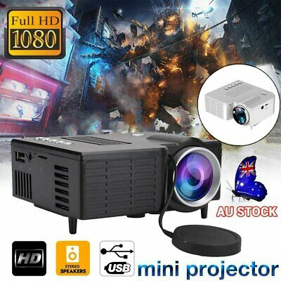 AU47.90 • Buy Mini Projector Pocket LED Home Cinema HD 1080P Portable Video Cinema USB TF AV