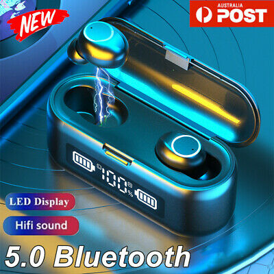 AU20.89 • Buy TWS Bluetooth 5.0 Wireless Earphones Headphones Headset Mini Earbuds Smart Touch