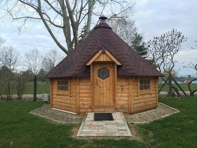 £8559 • Buy BBQ Hut Grill Cabin 17m² Outdoor, Log Effect, Cabin, Barbecue, Timber, Garden
