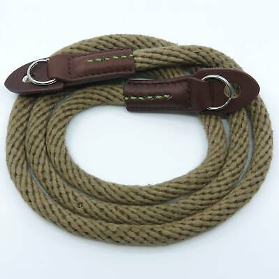 Khaki Woven Cotton Rope Camera Strap With Ring Connection By Cam-in (95cm) • 17.99£