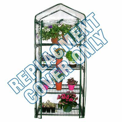 New 4 Tier Greenhouse Reinforced Replacement Pvc Cover Garden Plants Growhouse • 9.95£