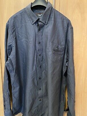 Hackett Aston Martin Grey Shirt Size 1XL Cotton • 25£