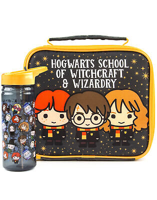 £16.99 • Buy Harry Potter Lunch Bag And Bottle Set Chibi Character One Size