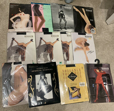 Wolford And Assorted Black Tights Sizes S-L - 12 Pairs • 42£