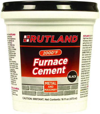 16 Oz Furnace Cement Metal Masonry Joints High-Heat Silicate Cracks Seal Repair • 10.03£