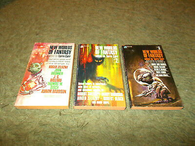 Terry Carr - New Worlds Of Fantasy, Complete Set 3 Books - SF 1st PB Eds VGC • 15.99£