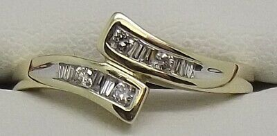 AU354 • Buy Solid 9ct Yellow Gold Natural Diamond Dress Ring - Size N1/2