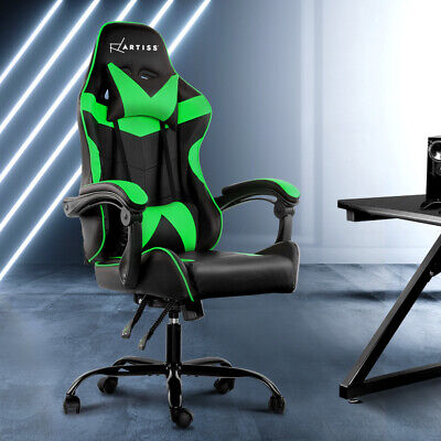 AU148.90 • Buy Artiss Gaming Office Chair Computer Chairs PU Seat Racing Recliner Black Green