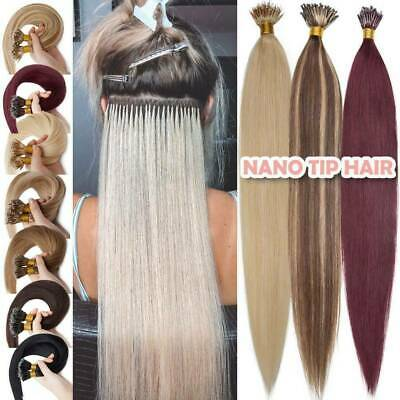 £20.64 • Buy Micro Nano Ring Beads Tip Hair Extensions Double Drawn Thick Remy Human Hair1g/s