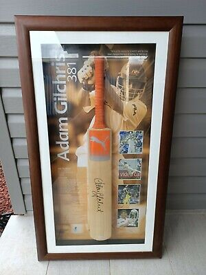 AU400 • Buy Adam Gilchrist Signed Cricket Bat Framed Limited Edition